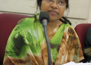 Begum Shamsun Nahar at Seminar on Women, Dhaka-2009