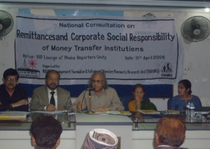 Dr.Khalequzaman at Consultation on Remittance, Dhaka-2008