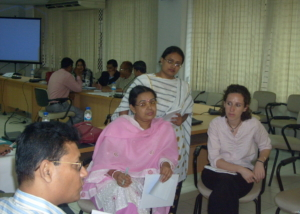 Group Discussion at Pre-departure Workshop, Dhaka-2008
