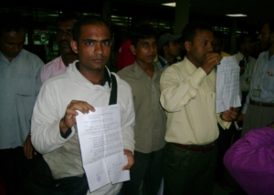 Malaysia Migrant Deportees at Dhaka Airport-2008