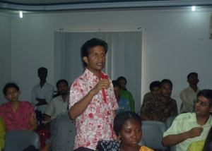 Mr. Faruk of OKUP at Consultation on Remittanc, Dhaka-2008