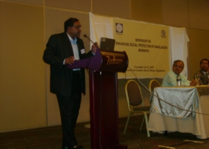 WB Workshop on Migrants Protection at Dhaka-2007