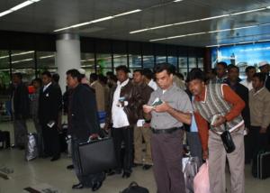 migrantsin airport