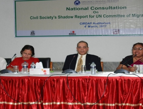 National Consultation on  Civil Society's Shadow Report for UN Committee of Migrant Workers-2017