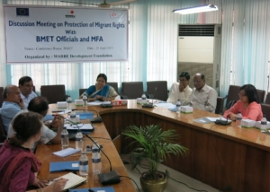 BMET Officals Meets MFA Members on HLD Issues at Dhaka-2013.