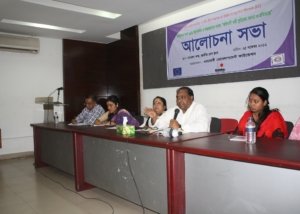 Campaign for Ratification of Domestic Workers ILO Convention 189-Discussion at National Press Club, Dhaka-2012