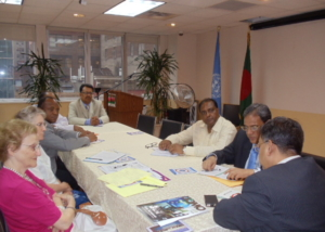 Meeting with UN NGO Committee on Migration at New York-2012