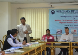 Mr. Shabarinath Nair at Diplomacy Training Program (DTP)