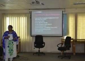 Presentation of Jasiya Khatoon in DTP-1st Module at InM