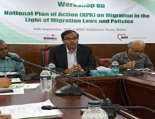 Workshop on National Plan of Action (NPA) on Migration in the Light of Relevant Laws and Policies and Inauguration of Grievance Receiving Center at BMET